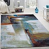 Paco Home Designer Teppich Modern Kurzflor Wohnzimmer Bunt Trendig Meliert Multicolour, Grösse:200x290 cm