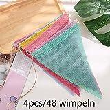 DAHI Wimpelkette 4 Stück Wimpel Banner Wimpel Girlande 48 Stück Dreiecksflaggen für Hochzeit,Party (bunt)