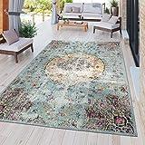 TT Home Moderner Outdoor Teppich Wetterfest für Innen & Außenbereich Boho Style In Multifarben, Größe:120x170 cm