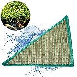 Pflanzinsel Teich als Dreieck schwimmend in 120x120x160cm – schöne Gartenteich-Atmosphäre mit Teichinsel, Pflanzkorb, Pflanzschale – Reduzierung von Algen & Ruhezone für Koi durch Pflanzeninsel