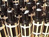 iapyx 16x Gartenfackel Bambusfackeln Party Öllampen Fackeln inkl. Dochte ( W42 )
