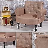 Polstersessel Braun Barock Stil Textilsessel Sitzmöbel Beistellstuhl Armsessel