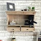 CivilWeaEU- Massives Holz, zum der alten Wand-Speicher-Schränke zu tun Hut-Haken Retro- hängende Zahnstangen-Schließfächer hölzernes Fertigkeit-dekoratives Kabinett -Regal