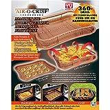 AIR-O-CRISP Backofen Backblech und Grillkorb 3 in 1 mit 360 Grad Hitzezirkulation rund um die Nahrungsmittel - Original aus TV-Werbung JEWADO