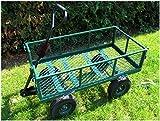 Gartenwagen, 275 kg Tragkraft, Metall, Gartenkarre, Gerätewagen, Transportwagen, Handwagen, Handkarren, Luftbereifung, klappbare Wände, Izzy Sport