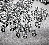 10000Stk Deko-Diamanten 6mm Farblos Absofine Diamantkristalle Transparent Kristall Dekosteine Tischdeko Diamanten Streudeko Hochzeit Dekoration