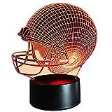 InnoWill American Football Helm Lampe Geschenke USB und batteriebetriebene 7Colors