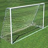SODIAL(R) Fussball Torpfosten Net 2.4x1.8m fuer Sport Training Match Outdoor Weiss