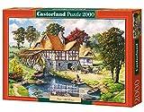 Castorland C-200498-2 - Water Mill Cottage, 2000-teilig, Klassische Puzzle