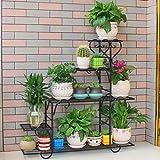 RYFS Multi-Layer Bodenstehende Eisen Blumenregale,Indoor Balkontür Wohnzimmer Sukkulenten Flower Pot Rack Pflanze-ständer-C
