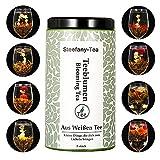 Teeblumen, 8 versch.Teeblumen Mix, und Geschenkbox mit 8 verschiedenen Weißtee, Chrysantheme, Lilie, Jasmin, Einzeln vakuumverpackt