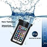 Wasserdichte Handyhülle Wasserdichte Hülle Beutel Tasche,wasserfeste handyhuelle,Staubdichte Schützhülle für iPhone X/8/7/6/6s/6splus/5/5c/5s/Galaxy S7/S7edge/S6/S6 edge/S5,Huawei P8/P9, usw bis zu 6 Zoll