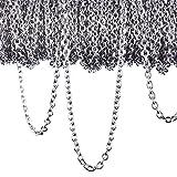 12 Meter Edelstahl Kabel Kette Link Kette Halskette für Schmuck Zubehör DIY, Silber (2,4 mm)