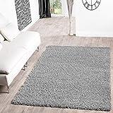 Shaggy Teppich Hochflor Langflor Teppiche Wohnzimmer Preishammer versch. Farben, Größe:100x200 cm, Farbe:grau