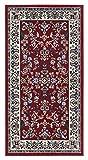 Klassischer Orientteppich Perserteppich Orientteppich - Ornamente Muster Webteppich Kurzflorteppich - in rot 60 x 110 cm