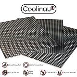 Coolinato 3 Hochwertige Silikon Backmatten (38x30cm) Rutschfeste Dauerbackfolie für Backofen | Umweltfreundlich und Spülmaschinenfest | auch als Backunterlage und Teigunterlage verwendbar
