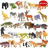 96 Stück Mini Spielzeug Tierfiguren Set – Plastik Wild Zoo -Tiere im Dschungel & kleine Safari Kinderspielzeug Spiel-Figuren – ideale Kindergeburtstag Give Aways, Mitbringsel & Mitgebsel