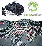 Teichnetz – Gartenteichnetz 4,5m x 6m , 27 qm leicht aufzubauend, Abdecknetz Vogelschutznetz, Schützt vor Laub, Schmutz, Vögeln – Haltbar, Durchsichtig. Hält Teich und Pool schön und sauber