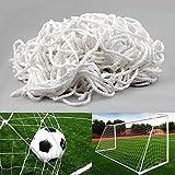 Fußballnetz für Tore Fußballtor - (3,6 X 1,8 M Höhere Tiefe 0,50 / Bottom 1,20 m) Kinder Weiß