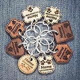 Hundemarke Anhänger fürs Halsband Personalisiert Holz Katze Haustier ID Graviert | 6 Massivholzarten | 8 Formen | 3 Größen | Dicke - 3mm/5mm
