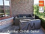 Perel Garden OCLCB-XL Schutzhülle Für Lounge-Kissen, Schwarz, 200 x 75 x 60 cm