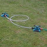 UKE Gartenstreuer, um 360 ° drehbarer automatischer Rasensprenger Einstellbarer Winkel und Abstand Rasenbewässerungssystem Geeignet für Rasen und Gärten,B