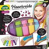 Lena 42536 - Lena Fashion Haarkreide Set mit 5 Farben und 126 Haar - Tattoos