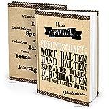 XXL Freundschaftsbuch Freundebuch Kraftpapier-Optik schwarz braun weiß DIN A4 164 Seiten - Einschreibbuch Blanko-Buch Gästebuch Poesiealbum, hier dürfen alle reinschreiben und sich verewigen.