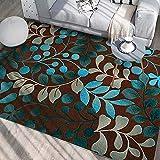 Zmymzm Moderner Deko-Teppich, mehrfarbiges Blumenmuster, großer Rutschfester Deko-Wohnraum, 120cm × 160cm,C,200cm×300cm
