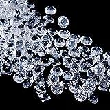Faburo 3000 Stück Deko Diamanten Hochzeit Streudeko 6mm ,Transparent Kristall Dekosteine Tischdeko Diamanten