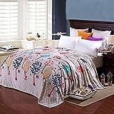 ShineMoon, ganzjährige weiche Flanell-Bettwäsche, Couch-Decke, leicht, gegen Kälte, für Erwachsene, Kinder, Outdoor, Reisen, Camping