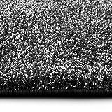 casa pura Shaggy Teppich Bali | Weicher Hochflor Teppich für Wohnzimmer, Schlafzimmer und Kinderzimmer | mit GUT-Siegel | Verschiedene Größen | viele Moderne Farben (80 x 150 cm, anthrazit)