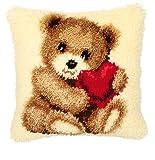 Vervaco PN-0014187 Knüpfkissen 3621 Teddy