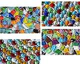 410g Mosaiksteine Bastelmix aus 4 versch. Artikeln geschenkideen, ca.180 St.