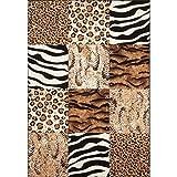 Lalee  347162727  Moderner Designer Patchwork Teppich / Muster : Leopard Zebra Tierfell - Optik / Grösse: 80 x 150 cm