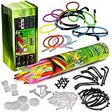 KNIXS Mega Knicklichter Partypack im 6 Farb-Mix (grün, rot, blau, gelb, pink, orange)