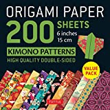 Origami Paper 200 Sheets Kimono Patterns 6' (15 CM): Tuttle Origami Paper: High-Quality Double-Sided Origami Sheets Printed with 12 Patterns (Instruct