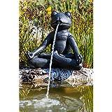 Teichfigur Speier Yoga-Frosch im Schneidersitz meditierend