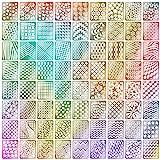 144 Stücke Nagel Vinyl Schablonen Aufkleber Set, 24 Blätter 72 Verschiedenes Design Nette Einfache Nagelkunst Nagel Vinyl Nagel Schablonen Blätter