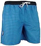 GUGGEN MOUNTAIN Herren Badeshorts Beachshorts Boardshorts Badehose kariert *verschiedene Farben* Farbe Blau XL