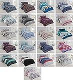 Bettwäsche Bettgarnitur Sommerbettwäsche Kissenbezug 2-3 teilig, mit Reißverschluss, 3 Größen, in verschiedene Designs (Farbe : 1, Größe : 200x220 cm)