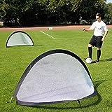 2 Pop-Up-Tore im Set, 180 cm breit, selbstaufstellend, für Fußballtraining