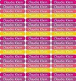 INDIGOS UG 54 Namensaufkleber/Etiketten - 60x10mm - für Kinder, Schule und Kindergarten - Stifte, Federmappe, Lineale - individueller Aufdruck - Markieren von Gegenständen - personalisiert