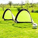 FORZA Flash Pop-Up Fußballtore (Paar) (0,76m, 1,21m oder 1,83m) - das Beste Pop-Up Fußballtor für sofortiger Spaß (1,21m)
