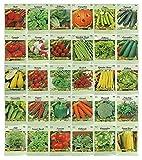Seeds: Set von 28 Packs Variety Deluxe Gemüsesamen + 2 Bonus-Pakete! 30 Gesamt Packs