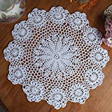 Handarbeit Geklöppelt Spitzendeckchen Baumwolle Placemat Blume Matte, 37cm
