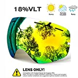 JULI Skibrille,Winter Schnee Sport Snowboardbrille Mit Anti-nebel UV Schutz Austauschbar Sphärische Doppelte Linse für Männer Frauen & Jugend Schneemobil