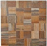 Mosaik Fliesen Mosaikfliesen Metallmosaik Kachel braun Holzoptik matt Küchenfliese WC Fliesenspiegel Fliese | 10 Mosaikmatten