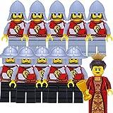 LEGO Castle, Kingdoms, Ritter: Armee mit 2 x 5 Löwenritter mit Speeren und Hellebarden und Königin, Set mit 11 Figuren