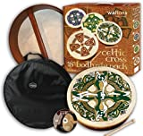 18 'Waltons Gaelic Kreuz Design Irische Bodhrán-Pack